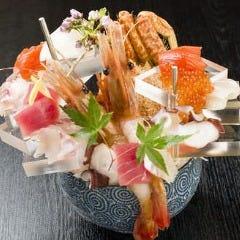 函館魚市場しだいの刺身鉢盛り