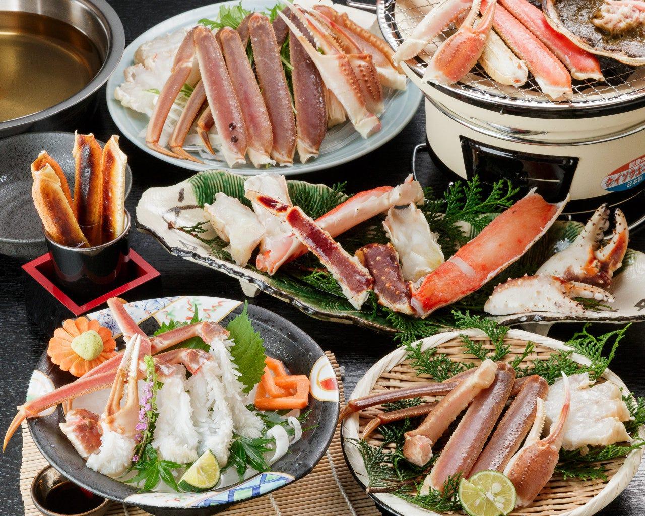 """""""特上""""たらば蟹&ずわい蟹の食べ比べ"""