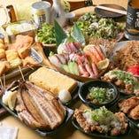 旬の味と人気メニューを満喫♪飲み放題付宴会コースが充実★