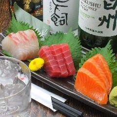 鮮魚のお造り三点盛り