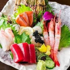 鮮魚のお造り五点盛り