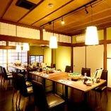 【和の空間】 大人数宴会にも重宝する個室を数多くご用意