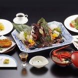 【若松(わかまつ)】伊勢海老の活造り・伊勢海老と鯛の焼物など全11品