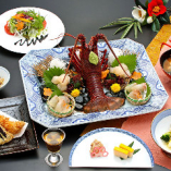お得な特別サービス付【宴(うたげ)コース】伊勢海老活造り・フライ・白身魚の南蛮漬など全8品