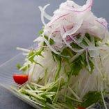 大根と水菜サラダ