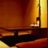 隠れ家風個室。ゆっくりと、ご家族、女子会に最適の個室です。