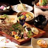 南伊勢の鮮魚や地元の野菜は旬のものを使用「四季コース」