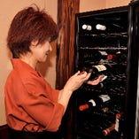 ワインやシャンパンも豊富にご用意