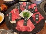 焼肉6種盛り 牛りきあんランチ