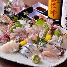 しらすを始め、新鮮な鮮魚を堪能!