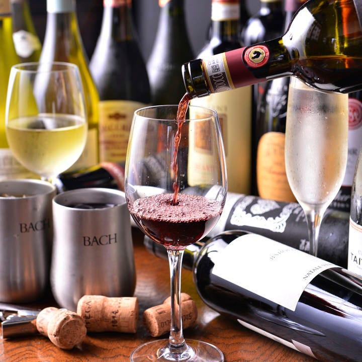 世界中から厳選したワインを取り揃え