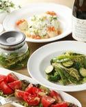 ◇パスタ・サラダ・リゾット◇ 新鮮食材の料理をワインと共に♪