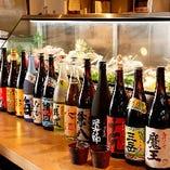 全国各地の日本酒、焼酎を種類豊富に取り揃えております。