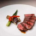 ≪選べるランチ≫牛ミスジのグリル マスタードソース(100g)