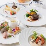 《ジョワ》 お魚とお肉のWメイン料理+デザート付きランチ