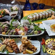地元静岡の旬素材や豪華食材を堪能