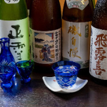 沼津や清水、焼津など、駿河湾を囲むように取り揃えた静岡の地酒が特に人気