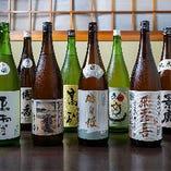 静岡の銘酒など地酒は約20種