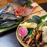 オクシズ野菜としずまえ鮮魚をお楽しみください