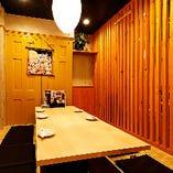 2階 掘りごたつ個室【3~5名様×1部屋】木に囲まれたあたたかい雰囲気が居心地◎