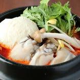 牡蠣とスンドゥブチゲ