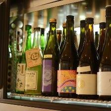 珍しい日本酒のラインナップ