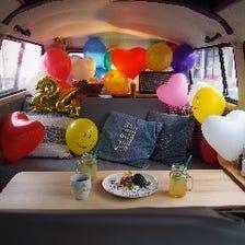 ワーゲンバスでお祝い♪