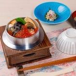 釜飯  鮭の西京焼といくら醤油漬 御膳