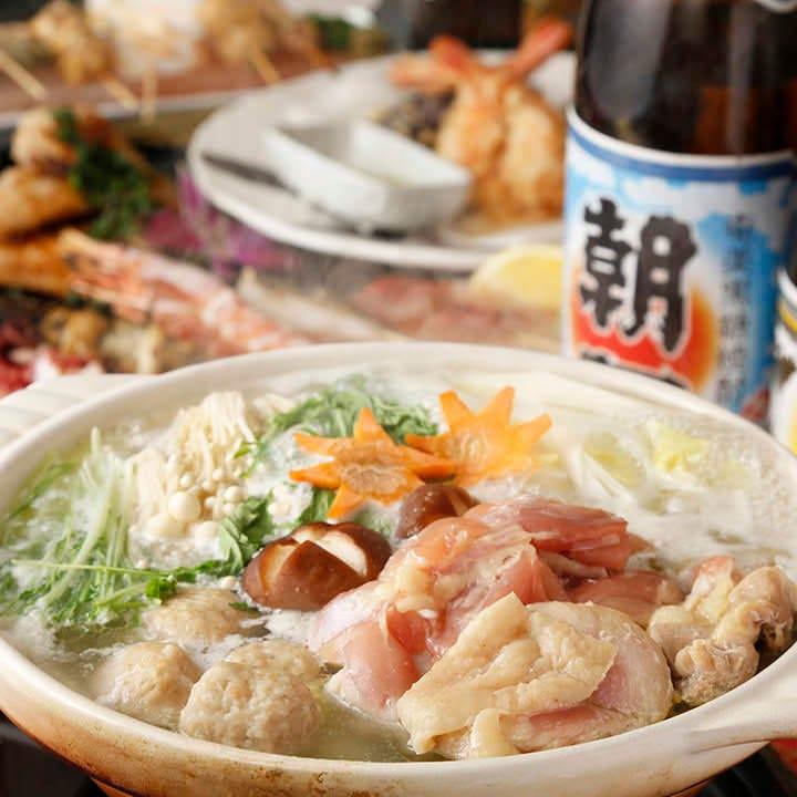 【肉寿司と大山鶏と季節野菜の鍋コース】2H飲み放題付+料理7品『期間限定コース』3980円→2899円