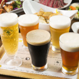 クラフトビールは週替わりで4種類ずつご用意