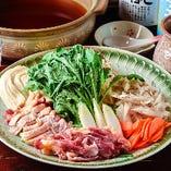 地鶏鍋(ひきとおし)