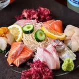 [新鮮旬魚] 壱岐直送の厳選鮮魚を刺身でご堪能ください