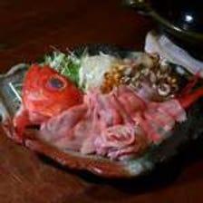 【松】金目鯛しゃぶ鍋コース(8品)
