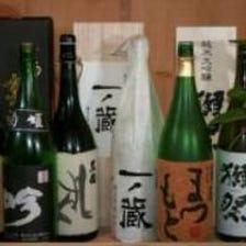 本格和食のお供に全国各地の日本酒を