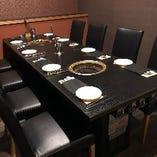 【完全個室 8名様】少・中人数でも安心のテーブル席