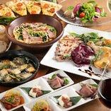 創作料理や多彩なドリンクを楽しむ飲み放題付きコース2,980円〜