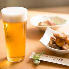「うすはりグラス」で飲むビール