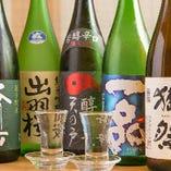 日本酒は和食に合う辛口を中心にラインアップ