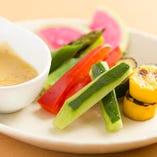 季節野菜の和風バーニャカウダ