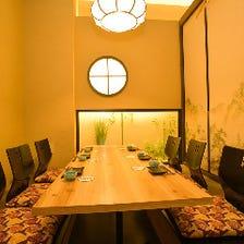 接待や食事会に掘りごたつ個室で…