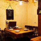 お仲間内でおこもり感を満喫する1階半個室『通称:1番テーブル』