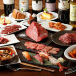 種類豊富なお肉と多彩なオリジナル料理が圧巻の『ステーキなど食べ放題コース』
