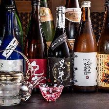 和歌山の地酒をはじめ、お酒も種類豊富にご用意しております