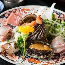 圧倒的な鮮度を誇る魚介と厳選お肉