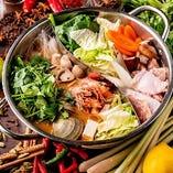 【冬限定】アジアン鍋!コースでしか食べれない!
