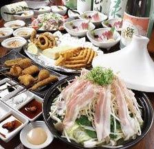 タジン鍋とお造り&串揚げのコース