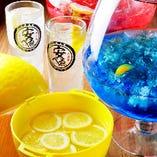 安べゑレモンサワー199円。 生ビール399円。12種類のレモンサワーをご提供。