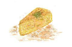 キノコとベーコンのイタリア風オムレツ ~ポルチーニクリームソース~