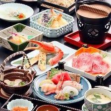 ◆目と舌で愉しめる会席料理に舌鼓
