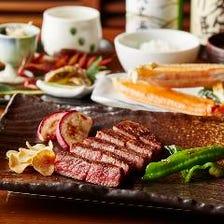 【鉄板焼ディナー:ご接待・ご会食にオススメ】Anコース+乾杯酒+選べるメインの種類追加